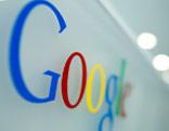 Google Logo auf einer Wand