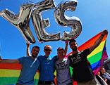 Aktivisten für die Anerkennung der Homosexuellenehe in Irland