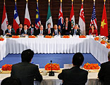 Staatschefs der Pazifikanrainerstaaten bei einem Treffen