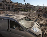 Zerstörte Häuser in Aleppo