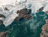Satellitenbilder eines Gletschers