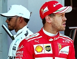 Lewis Hamilton (GBR/Mercedes) und Sebastian Vettel (GER/Ferrari)