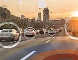 Vernetzte Autos auf der Autobahn