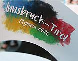 Flagge zu Innsbrucks Olympiabewerbung