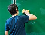 Schüler an der Tafel