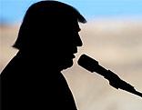 US-Präsident Silhouette von Donald Trump