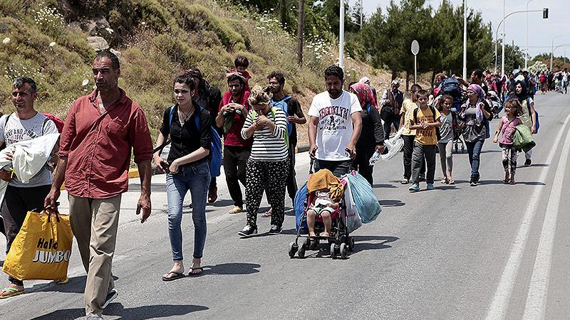 Flüchtende auf Lesbos