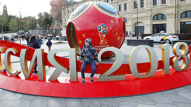 WM-Deko in Moskau