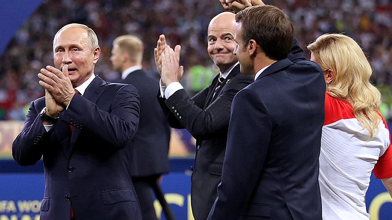 Vladimir Putin beim WM-Finale