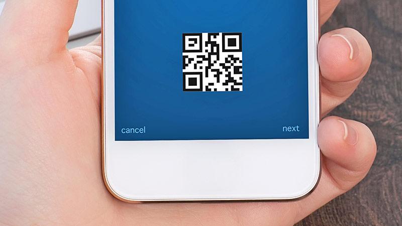 QR-Code auf einem Smartphone