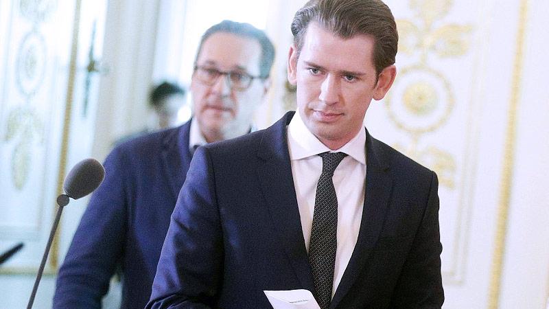 Bundeskanzler Sebastian Kurz (ÖVP) und Vizekanzler Heinz Christian Strache (FPÖ)