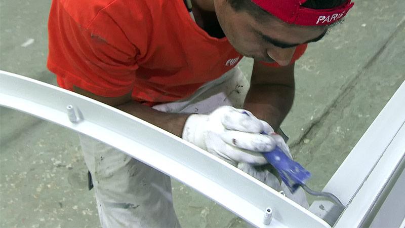 Maler und Anstreicher bei der Arbeit
