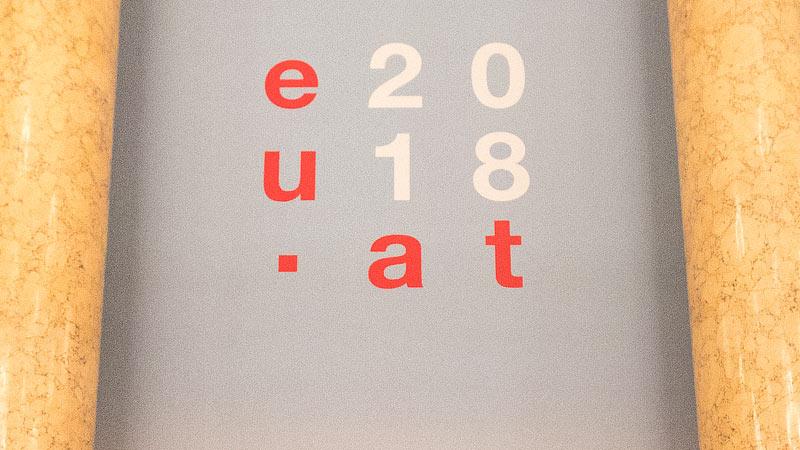 Logo der österreichischen EU-Ratspräsidentschaft 2018