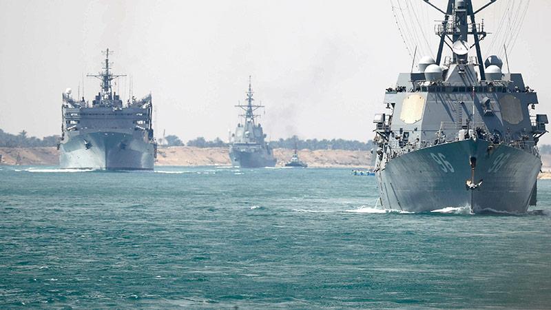 Kriegsschiffe der US. Navy