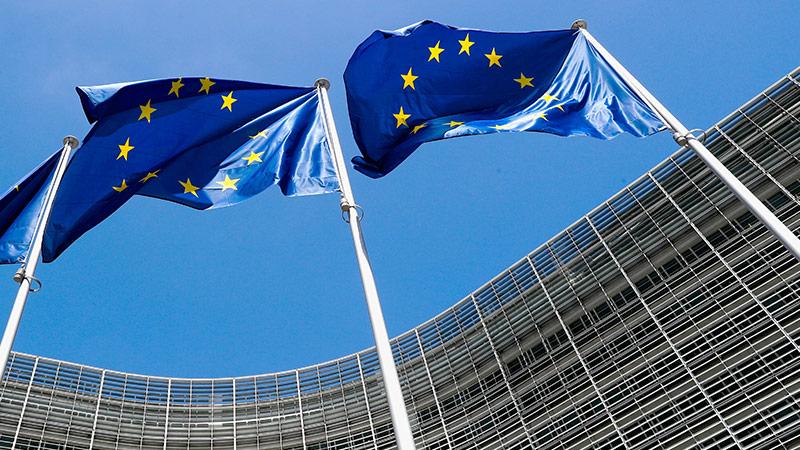 EU Flaggen im Wind