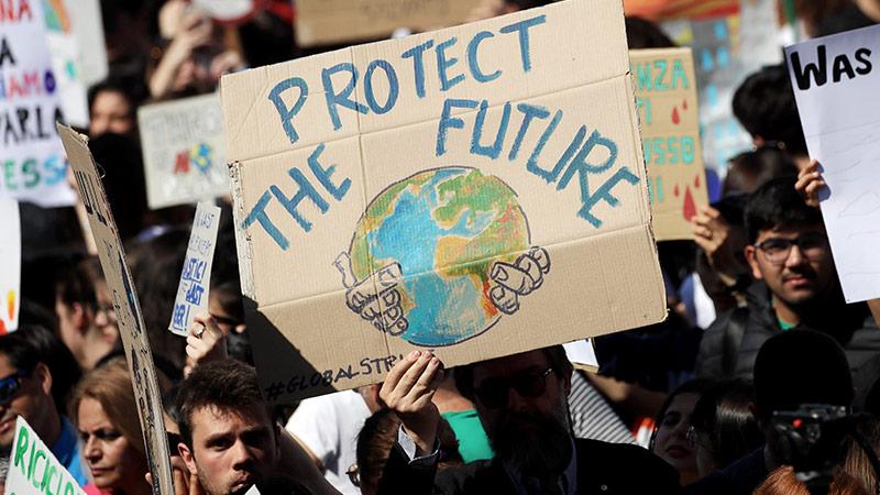 """Demonstranten bei """"Fridays for Future"""""""