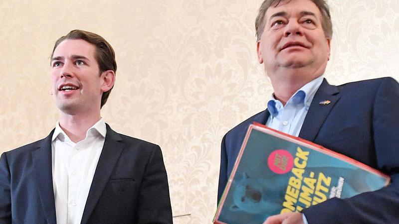 ÖVP-Chef Sebastian Kurz und Bundessprecher der Grünen, Werner Kogler