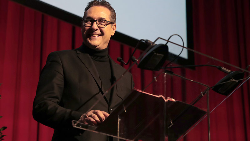 Heinz Christian Strache bei der DAÖ Präsentation