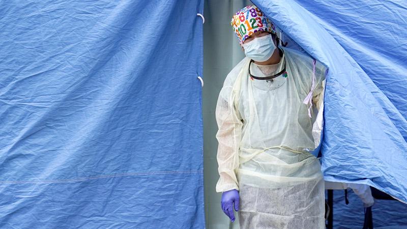 Teststation für Coronavirus in den USA