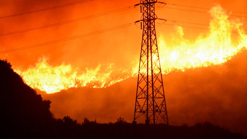 Waldbrand in Kalifornien, USA