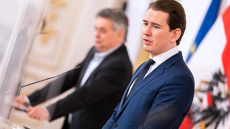 Bundeskanzler Sebastian Kurz und Vizekanzler Werner Kogler