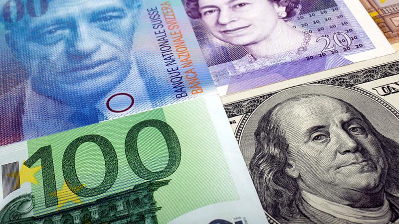 Geldscheine verschiedener Währungen