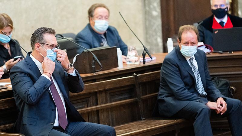 Heinz-Christian Strache und Walter Grubmüller