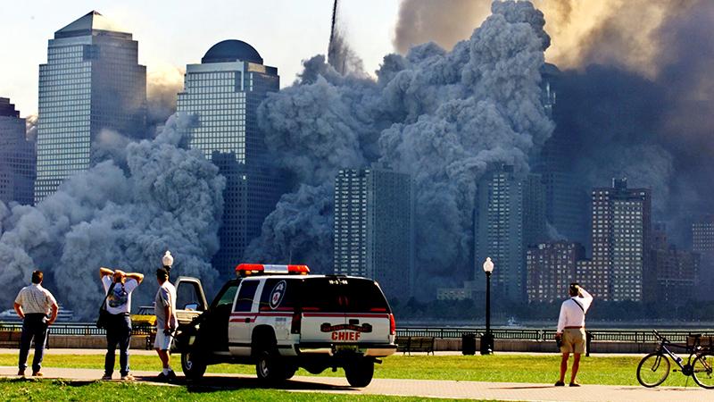Staubwolken über New York am 11. September 2001