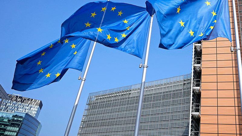 Drei EU-Flaggen